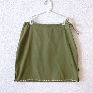 North Face Moss Green Mini Skirt Tie A5 Series